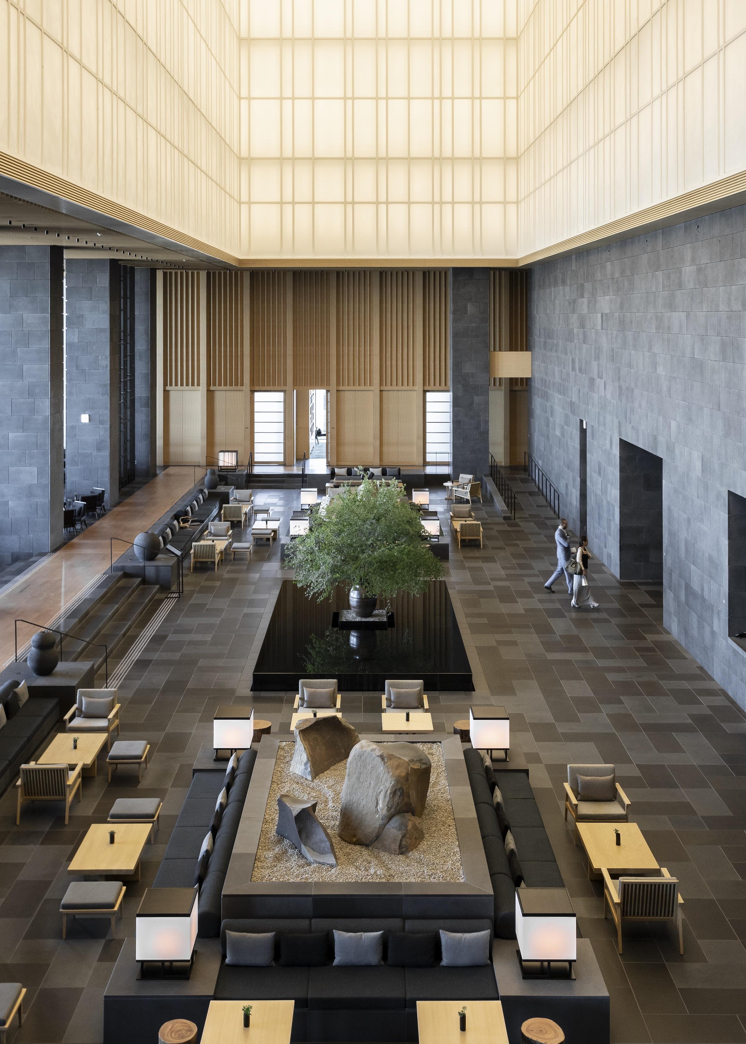 Aman Tokyo Lobby Lounge — Modern Luxury Hotel Tokyo — Softer Volumes
