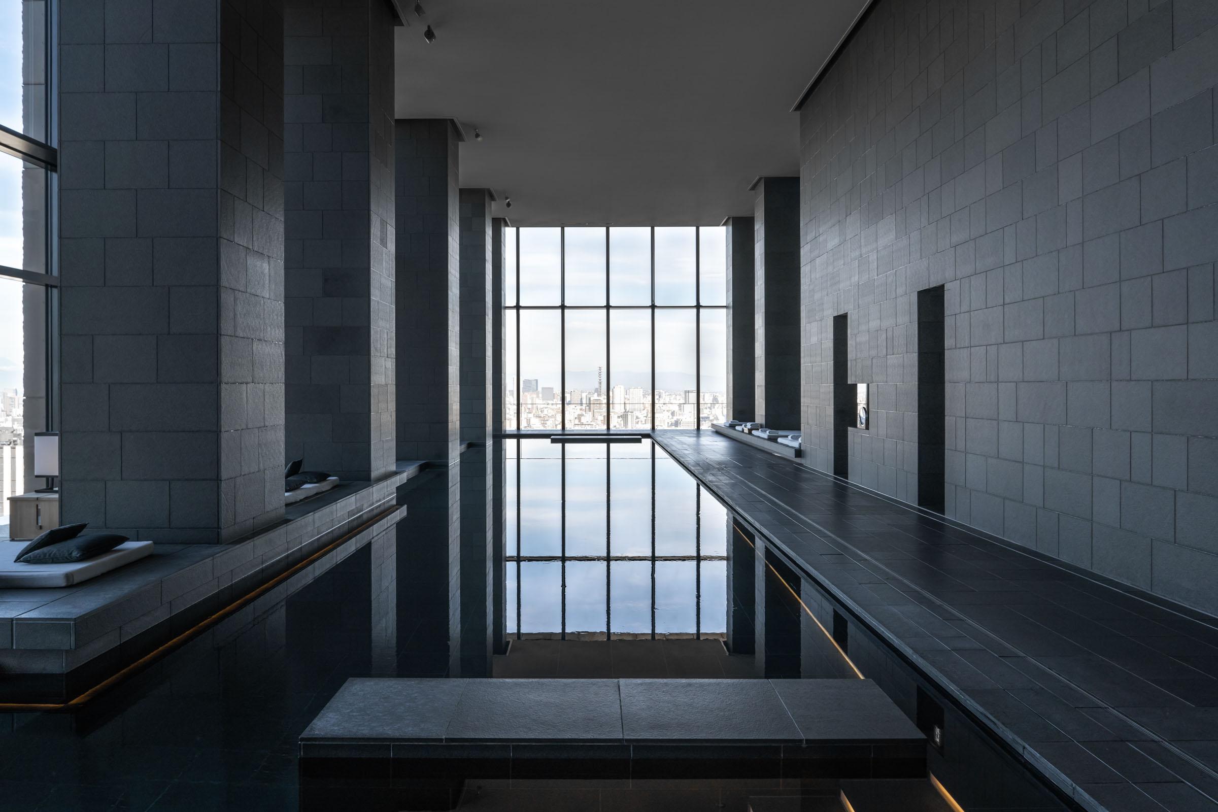 Aman Tokyo Pool — Modern Luxury Hotel Tokyo — Softer Volumes