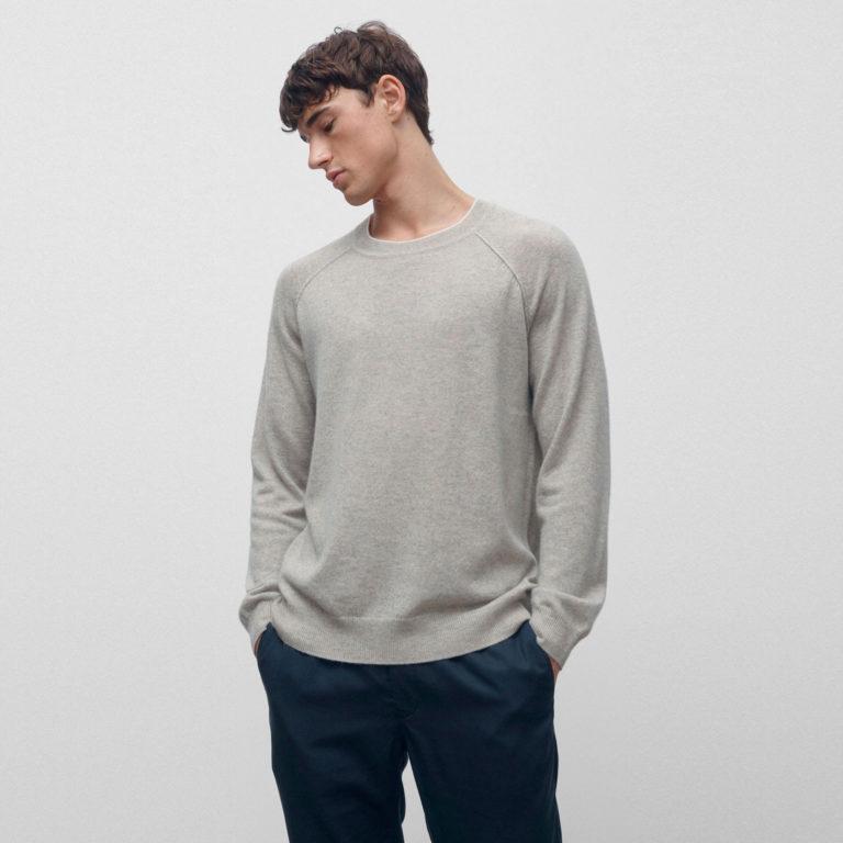 VENROY Exposed Seam Cashmere Sweater
