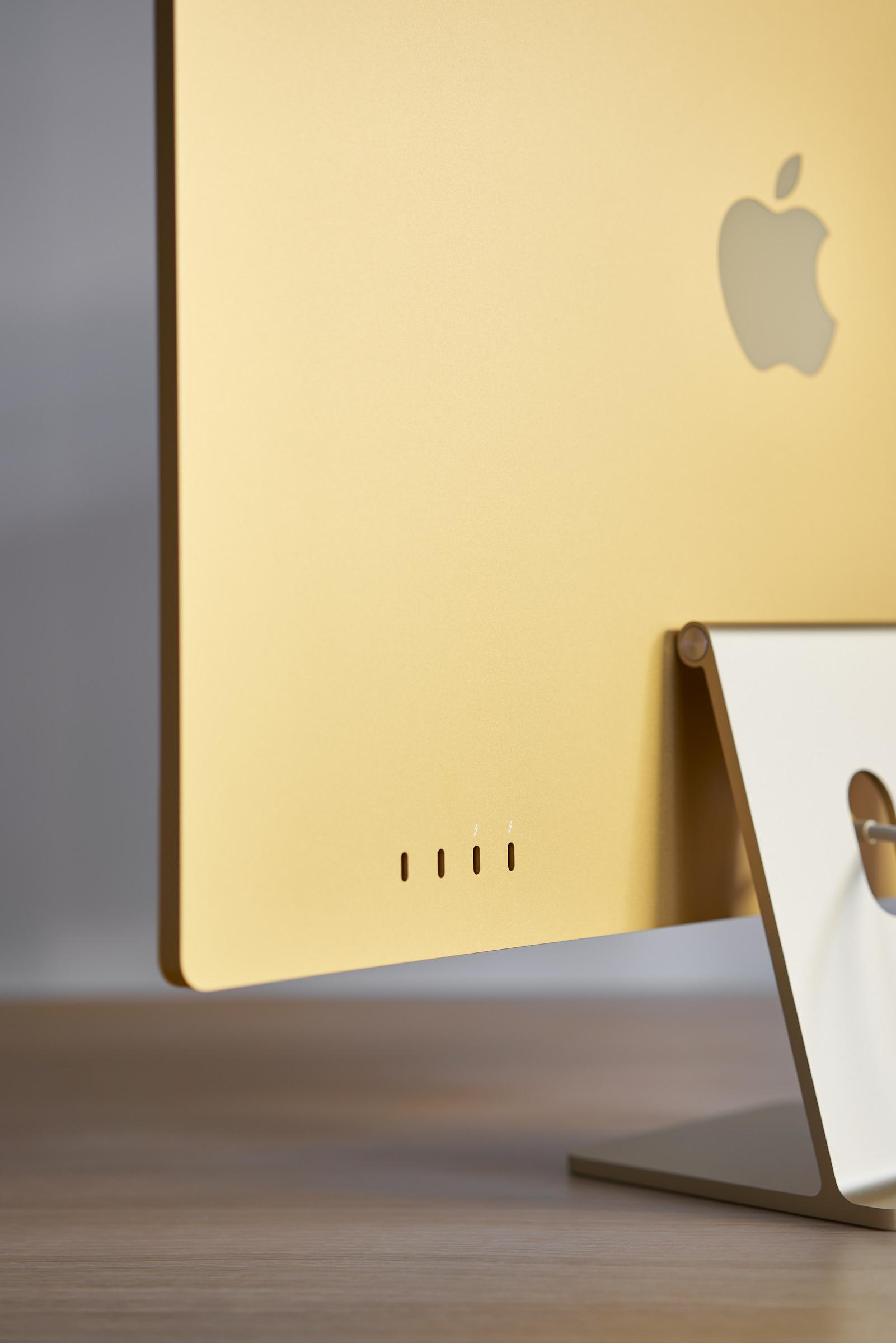 Yellow iMac 24-inch