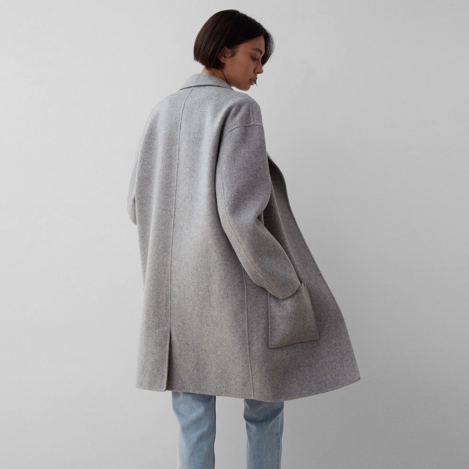 Assembly Label Single Breasted Wool Coat