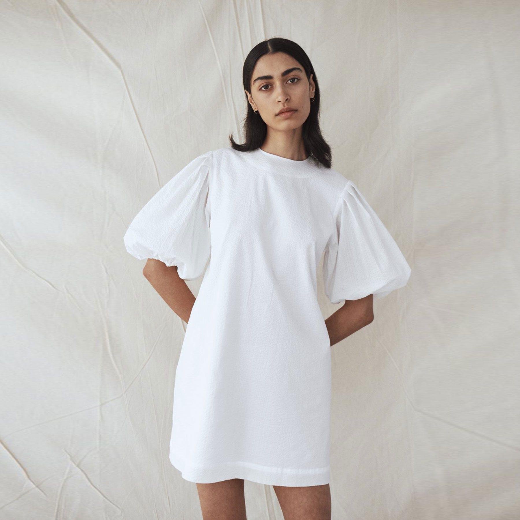 Matin-Gathered-Sleeve-Mini-Dress-1