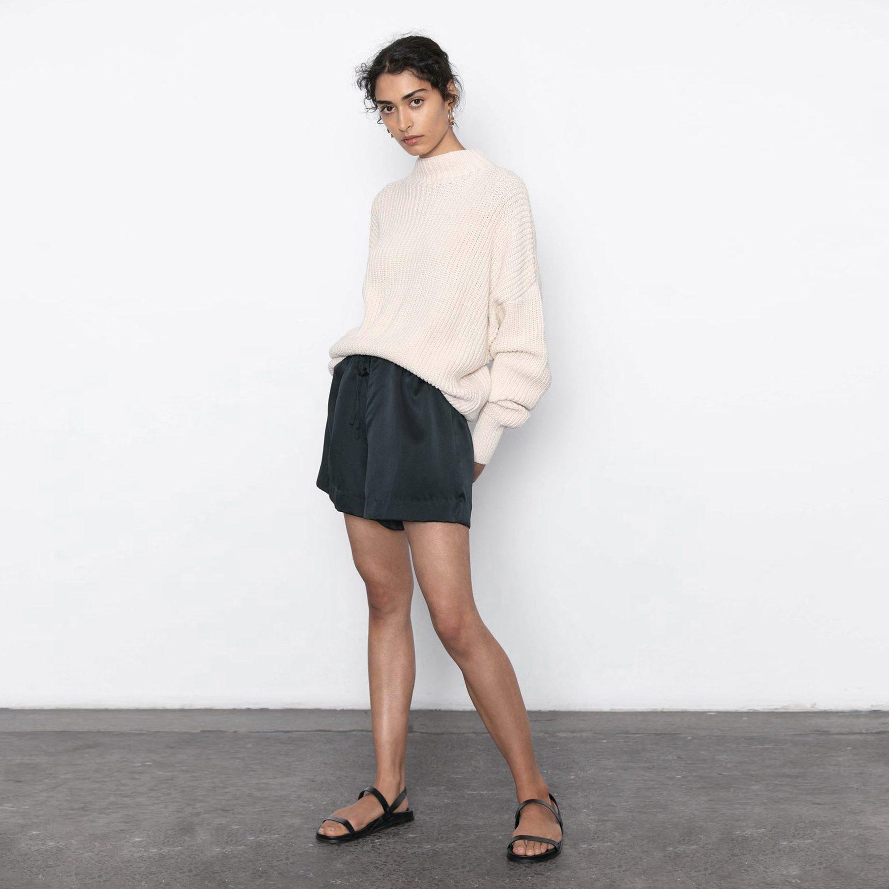 St Agni Norma Silk Shorts