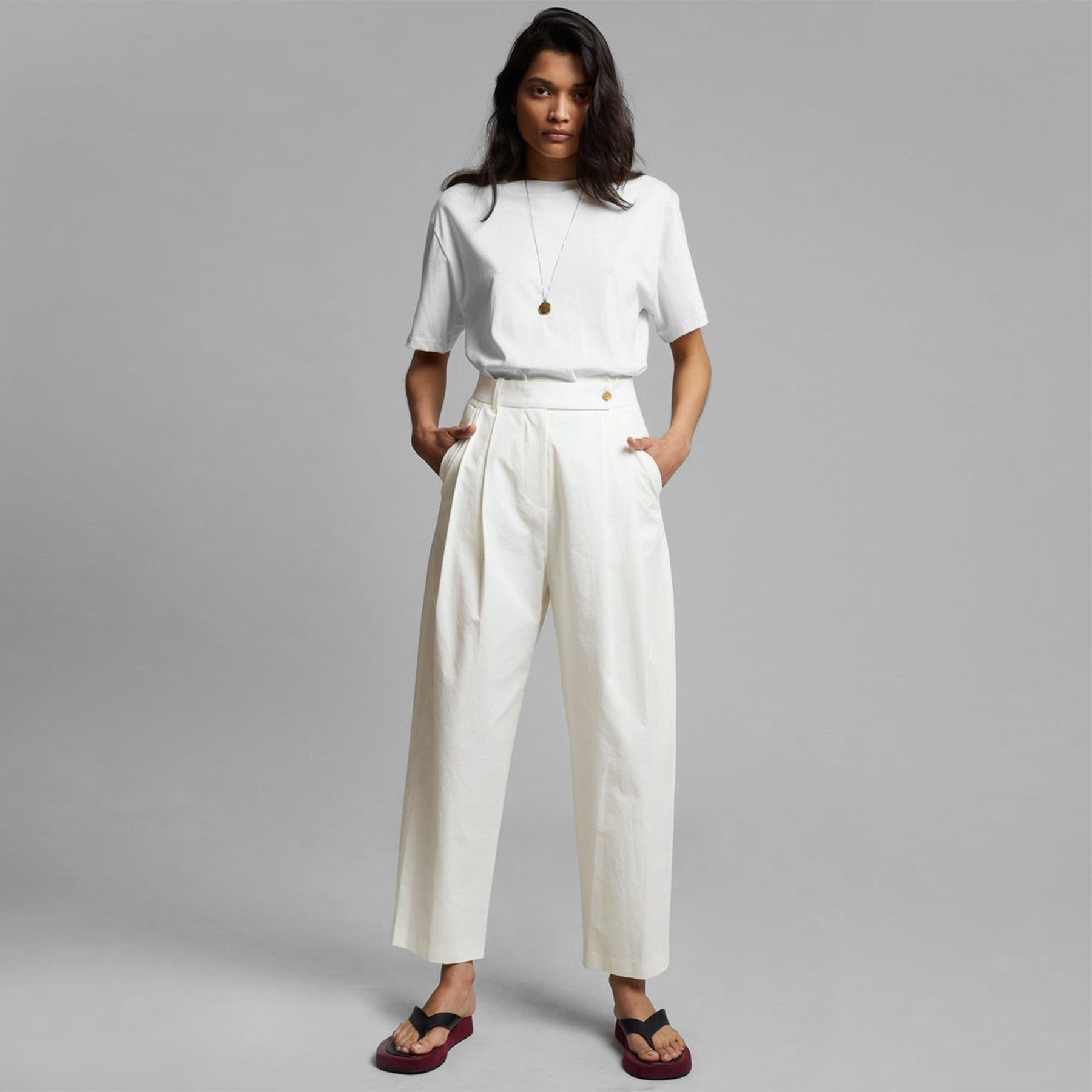 The Frankie Shop Feria Pleated Trousers